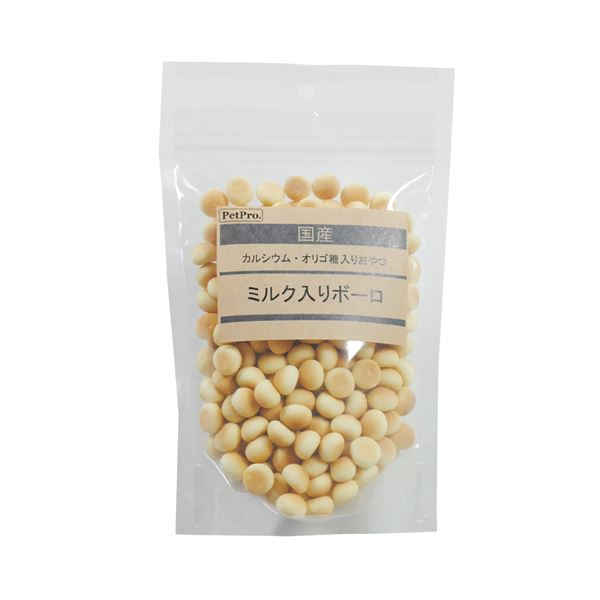 (まとめ)ペットプロ 国産おやつ ミルク入りボーロ 120g【×10セット】