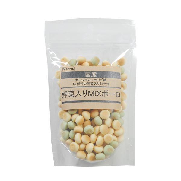 (まとめ)ペットプロ 国産おやつ 野菜入りMIXボーロ 120g【×10セット】
