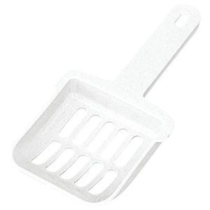 (まとめ)コロル ネコトイレ用スコップ ホワイト【×10セット】 - 拡大画像