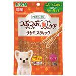 (まとめ) PETKISS つぶつぶチップで歯のケア ササミスティック プレーン 60g 【×12セット】 (ペット用品・犬用フード)