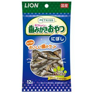 (まとめ) PETKISS 猫ちゃんの歯みがきおやつ にぼし 12g 【×12セット】 (ペット用品・猫用フード) - 拡大画像