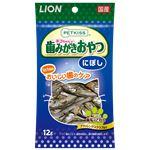 (まとめ) PETKISS 猫ちゃんの歯みがきおやつ にぼし 12g 【×12セット】 (ペット用品・猫用フード)