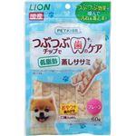 (まとめ) PETKISS つぶつぶチップで歯のケア 低脂肪 蒸しササミ プレーン 60g 【×12セット】 (ペット用品・犬用フード)