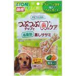 (まとめ) PETKISS つぶつぶチップで歯のケア 低脂肪 蒸しササミ 野菜入り 60g 【×12セット】 (ペット用品・犬用フード)
