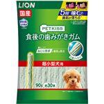 (まとめ) PETKISS 食後の歯みがきガム 超小型犬用 90g(約30本) 【×6セット】 (ペット用品・犬用フード)
