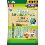 (まとめ) PETKISS 食後の歯みがきガム 無添加 超やわらかタイプ 超小型犬〜小型犬用 80g(約30本) 【×6セット】 (ペット用品・犬用フード)