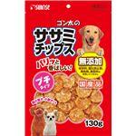 (まとめ)ゴン太のササミチップス プチタイプ 130g(ペット用品・犬用フード)【×5セット】