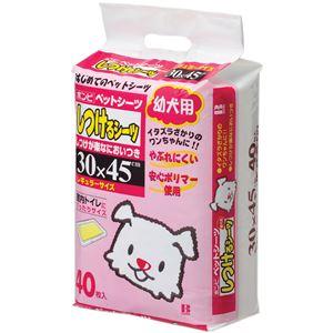 (まとめ)ボンビしつけるシーツ幼犬用40枚 30×45(ペット用品)【×6セット】 - 拡大画像