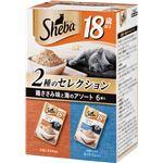 (まとめ) シーバ リッチ 18歳以上 ごちそうフレーク 鶏ささみ味と海のアソート 35g×6袋パック (ペット用品・猫用フード) 【×10セット】