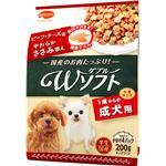 (まとめ) ビタワン君のWソフト 成犬用 ビーフ・チーズ味・やわらかささみ添え 200g 【×5セット】 (ペット用品・犬用フード)