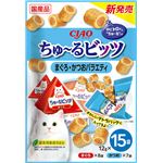 (まとめ) ちゅ〜るビッツ まぐろかつおバラエティ 12g×15袋 【×5セット】 (ペット用品・猫用フード)