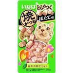 (まとめ) いなば とびつく焼かつお ほたて味 25g 【×24セット】 (ペット用品・猫用フード)