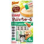 (まとめ) Pureちゅ〜る とりささみ&緑黄色野菜 14g×4本 【×20セット】 (ペット用品・犬用フード)