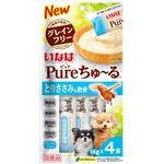(まとめ) Pureちゅ〜る とりささみ&軟骨 14g×4本 【×20セット】 (ペット用品・犬用フード)
