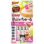 (まとめ) Pureちゅ〜る とりささみ&ビーフ 14g×4本 【×20セット】 (ペット用品・犬用フード)