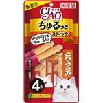(まとめ) CIAO ちゅるっと とりささみ 4本 【×12セット】 (ペット用品・猫用フード)