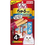 (まとめ) CIAO ちゅるっと かつお 4本 【×12セット】 (ペット用品・猫用フード)