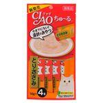 (まとめ) CIAO ちゅ〜る とりささみ 14g×4本 【×12セット】 (ペット用品・猫用フード)