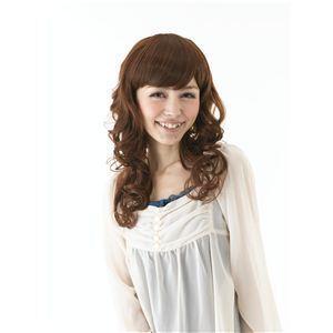 コスプレ女子会・結婚式余興前髪ウィッグ MA-1 ブラウン(耐熱) - 拡大画像
