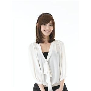 コスプレ女子会・結婚式余興カチューシャ前髪 KT-2 ブラウンゴールド(耐熱) - 拡大画像
