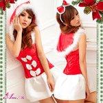 【クリスマスコスプレ】クリスマス☆サンタクロースコスプレセット/コスプレ/コスチューム/衣装/s016-11