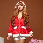 【クリスマスコスプレ】クリスマス☆サンタクロースコスプレセット/コスプレ/コスチューム/衣装/s024
