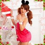 【クリスマスコスプレ】クリスマス☆サンタクロースコスプレセット/コスプレ/コスチューム/衣装/s033
