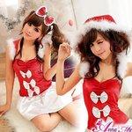 【クリスマスコスプレ】クリスマス☆サンタクロースコスプレセット/クリスマス/制服/サンタ衣装/コスプレ/コスチューム/衣装/s016-1