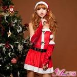 【クリスマスコスプレ】サンタクロースコスプレセット/コスプレ/コスチューム/衣装/s005 レッド