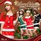 【クリスマスコスプレ】サンタクロースコスプレセット/コスプレ/コスチューム/衣装/s020 ブラック - 縮小画像4