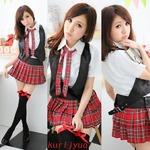 大きいサイズ☆アイドル風コスチューム☆ミニスカートコスプレ☆コスプレ/コスチューム/制服/衣装/801014-1