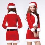 9459k【長袖 サンタ衣装/サンタ/クリスマス/イベント/パーティ/コスプレ/コスチューム/仮装/衣装】