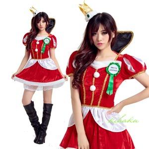 2efee8def570b 9221 クイーン ドレス サンタ衣装 サンタ クリスマス コスプレ コスチューム イベント パーティ 仮装 衣装