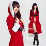 9224【ロング丈ドレス サンタ衣装/サンタ/クリスマス/コスプレ/コスチューム/イベント/パーティ/仮装/衣装】