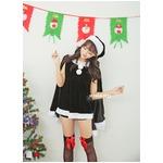 9202ブラック【3色 パーカー サンタコスチューム/サンタ/クリスマス/イベント/パーティ/コスプレ/コスチューム/仮装/衣装】