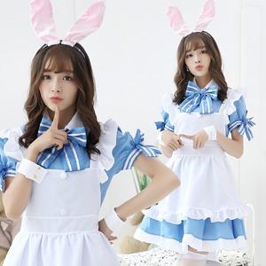 7805 カチューシャ付き メイド服 アイドル風 コスプレ衣装 �