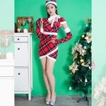 1074/サンタ4点セット/サンタコスチューム【クリスマス/クリスマス衣装/サンタクロース衣装/クリスマスコスプレ/コスプレ/イベント/パーティ/仮装】