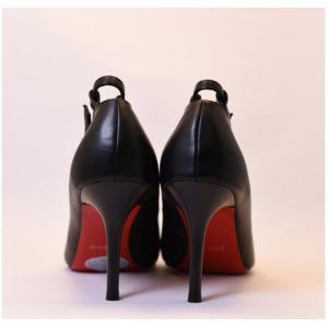 【フーレエル】(K6077)シンプルヒール!安定感と履きやすさ◎!ビジネスにも!22.0cm ブラック