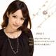 Vajra(ヴァジュラ) 2WAY♪スワロフスキーフラワー♪2連ネックレス♪ 【日本製】 - 縮小画像1