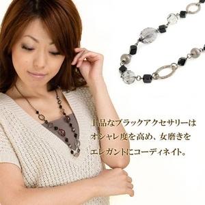 Vajra(ヴァジュラ) 大人のオーラを放つ♪ブラックロングネックレス♪ 【日本製】 - 拡大画像