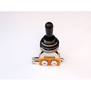 GP Factory(GPファクトリー) トグルスイッチ縦型 ブラック ブラックボタン (エレキギターパーツ) - 拡大画像