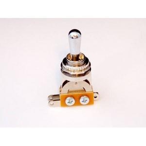GP Factory(GPファクトリー) トグルスイッチ縦型 クローム クロームボタン (エレキギターパーツ) - 拡大画像