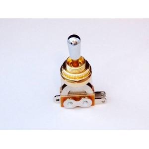 GP Factory(GPファクトリー) トグルスイッチ縦型 ゴールド クロームボタン (エレキギターパーツ)