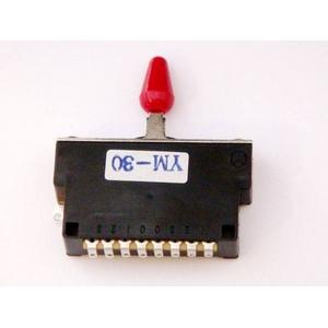 GP Factory(GPファクトリー) 3WAYレバースイッチ クローズ レッドボタン (エレキギターパーツ) - 拡大画像