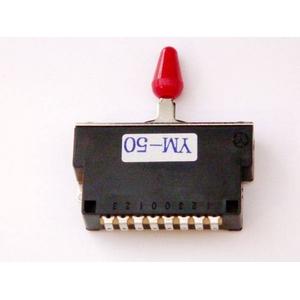 GP Factory(GPファクトリー) 5WAYレバースイッチ クローズ レッドボタン (エレキギターパーツ) - 拡大画像