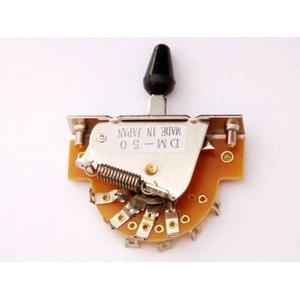GP Factory(GPファクトリー) 5WAYレバースイッチ オープン ブラックボタン (エレキギターパーツ) - 拡大画像