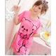 LeLeStyle(レレスタイル) キュートなくまのぬいぐるみ☆ピンクワンピシャツ - 縮小画像1