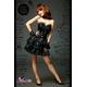 ふんわりスカートのゴスロリ調ブラックドレス/コスプレ コスチューム z671 - 縮小画像2