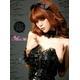 ふんわりスカートのゴスロリ調ブラックドレス/コスプレ コスチューム z671 - 縮小画像3