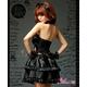 ふんわりスカートのゴスロリ調ブラックドレス/コスプレ コスチューム z671 - 縮小画像4